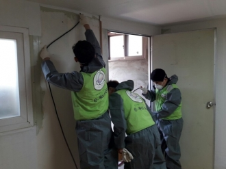 금호타이어 재능기부 봉사회, 노후주택 개선 집수리봉사활동